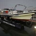 航通钓鱼艇与海吉士电动浮架